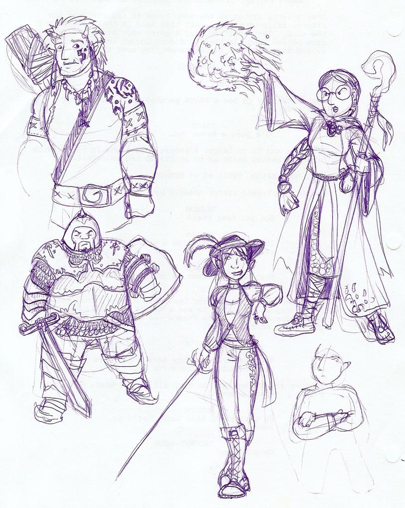 Ancient D&D Character Designs