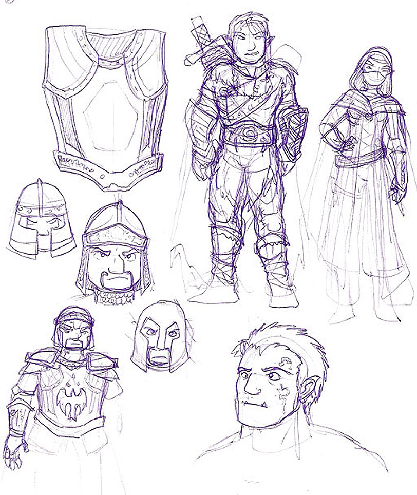 Early D&D sketches