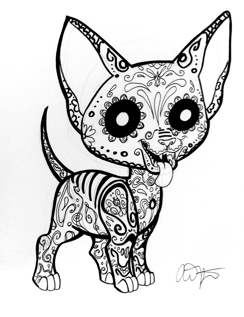 sugar candy skulls coloring pages - photo#26