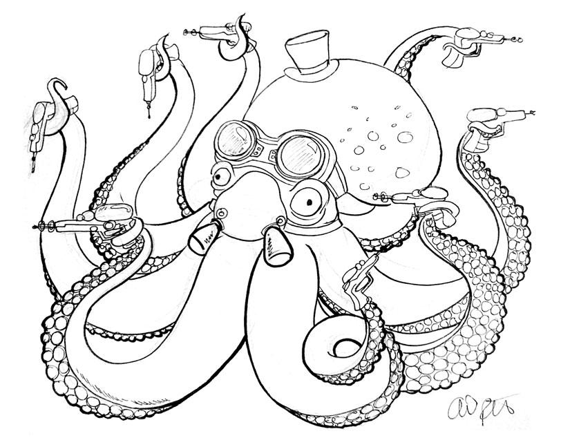 Cyberpunk Octopus