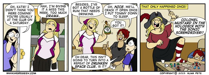 Drunken Space Clue