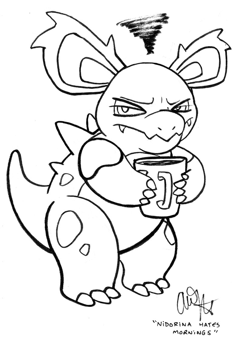 Nidorina hates mornings
