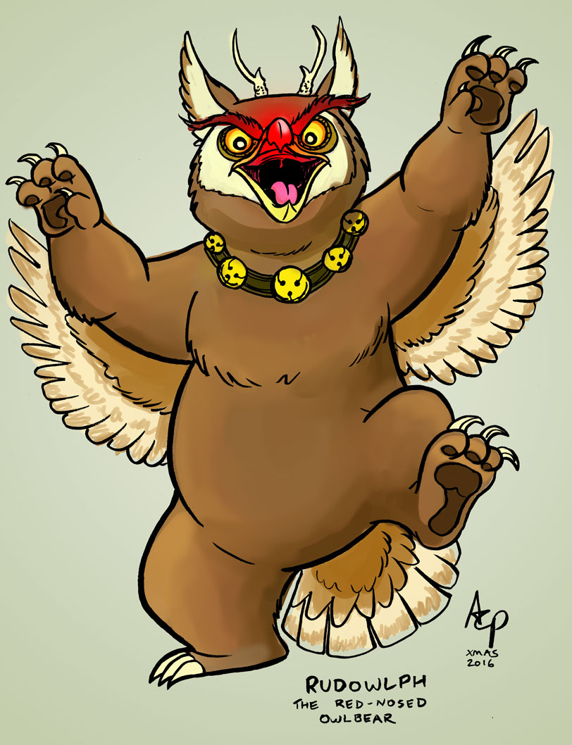 Rudowlph the red-nosed owlbear