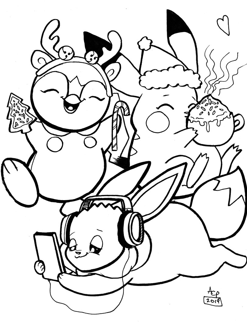 More coloring pages – This time with Pokemon!