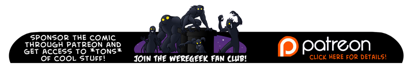 Friday Feature – The first Weregeek strip ever drawn
